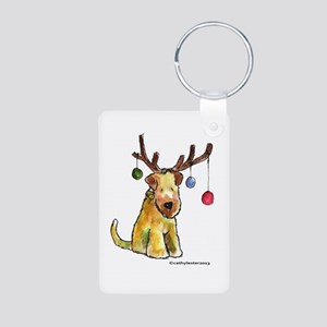 Wheaten terrier with Christmas Antlers Aluminum Ph
