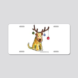 Wheaten terrier with Christmas Antlers Aluminum Li