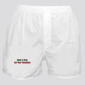 Save Cow Eat Neighbor Boxer Shorts