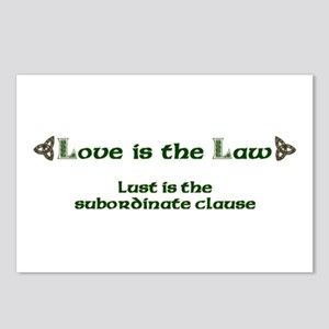 Love is the Law Postcards (Package of 8)