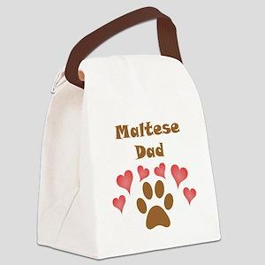 Maltese Dad Canvas Lunch Bag