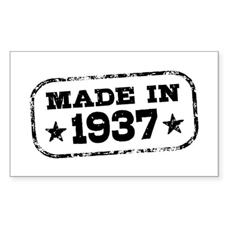 Made In 1937 Sticker (Rectangle)