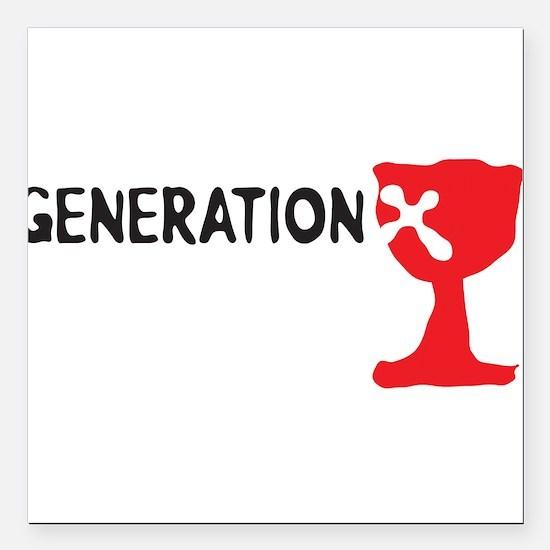 "Generation X Square Car Magnet 3"" x 3"""