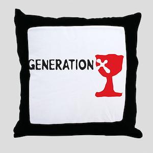 Generation X Throw Pillow