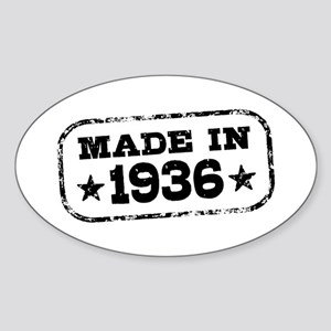 Made In 1936 Sticker (Oval)