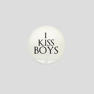I Kiss Boys Mini Button