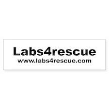 Labs4rescue Bumper Sticker