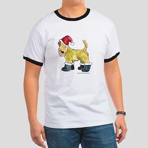 Wheaten terrier playing Santa Ringer T