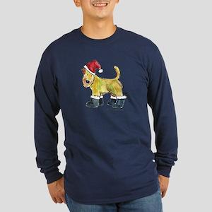 Wheaten terrier playing Santa Long Sleeve Dark T-S