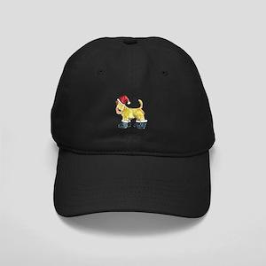 Wheaten terrier playing Santa Black Cap