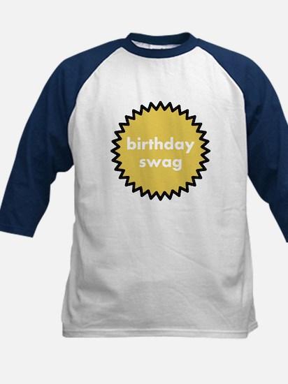 birthday swag kids baseball jersey