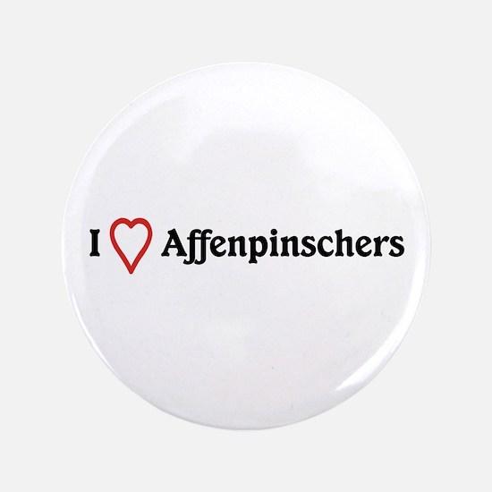 """I Heart Affenpinschers 3.5"""" Button"""