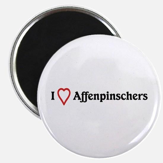I Heart Affenpinschers Magnet