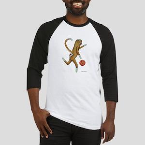 Basketball Sock Monkey with Logo Baseball Jersey