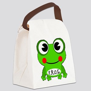 Cute Cartoon Frog Fully Rely On God F.R.O.G. Canva