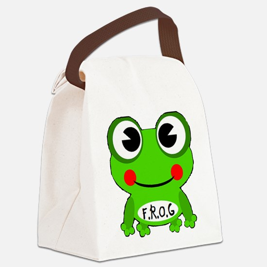 Cute Cartoon Frog Fully Rely On God F.R.O.G. Canva