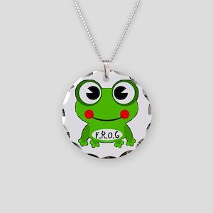 Cute Cartoon Frog Fully Rely On God F.R.O.G. Neckl