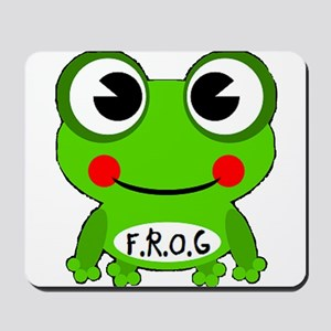 Cute Cartoon Frog Fully Rely On God F.R.O.G. Mouse