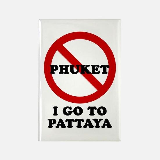 I GO TO PATTAYA Rectangle Magnet