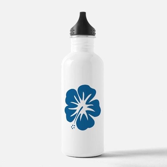 Blue Hibiscus Water Bottle