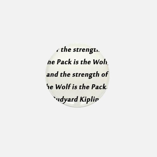 Kipling - Strength of Pack Mini Button