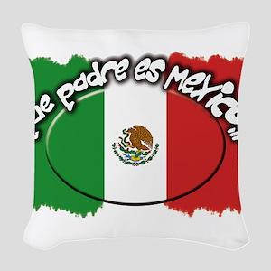 mexico que padre es Woven Throw Pillow