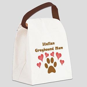 Italian Greyhound Mom Canvas Lunch Bag