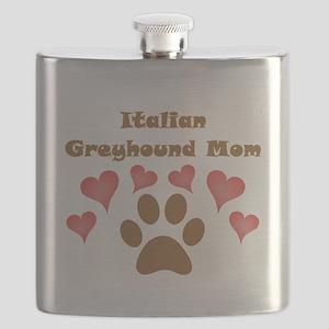 Italian Greyhound Mom Flask