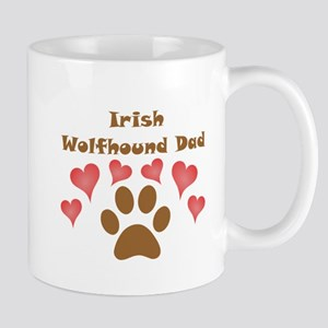 Irish Wolfhound Dad Small Mug