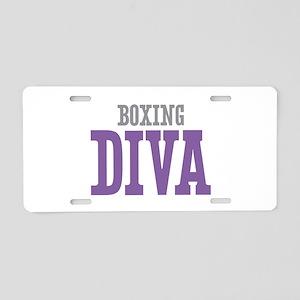 Boxing DIVA Aluminum License Plate