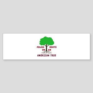 Polish American Roots Sticker (Bumper)