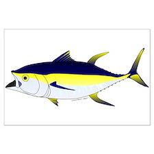 Yellowfin Tuna ocean fish t Posters