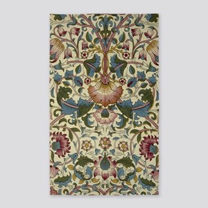 William Morris Floral Design 3'x5' Area Rug