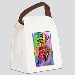 Music! Colorful sax muscian! Canvas Lunch Bag