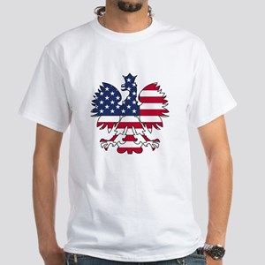 Polish American Eagle White T-Shirt
