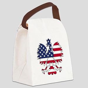 Polish American Eagle Canvas Lunch Bag