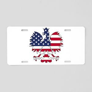 Polish American Eagle Aluminum License Plate