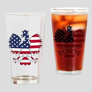 Polish American Eagle Drinking Glass