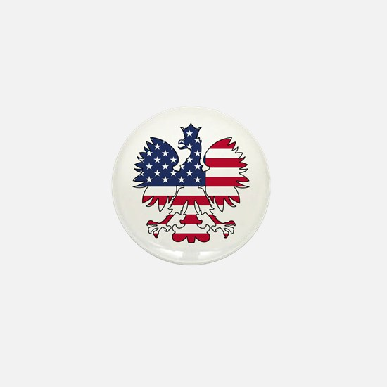 Polish American Eagle Mini Button