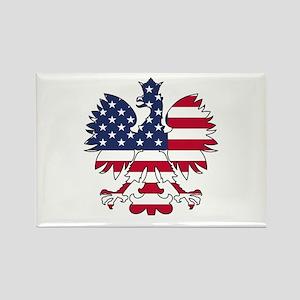 Polish American Eagle Rectangle Magnet