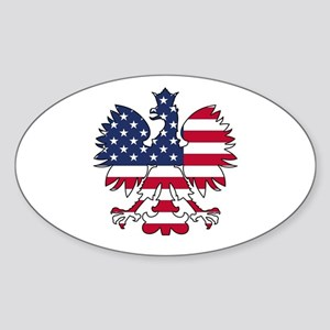 Polish American Eagle Sticker (Oval)