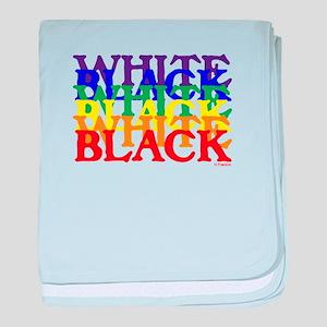 BLACK WHITE UNITY baby blanket