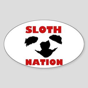 SLOTH NATION Sticker