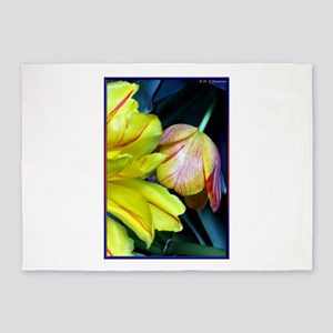 Tulips! Floral photo! 5'x7'Area Rug