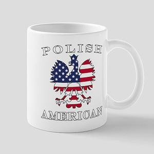 Polish American Flag Eagle Mug