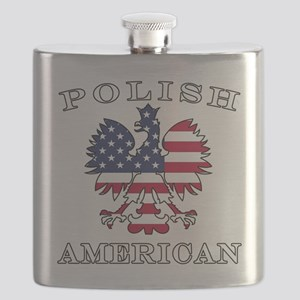 Polish American Flag Eagle Flask