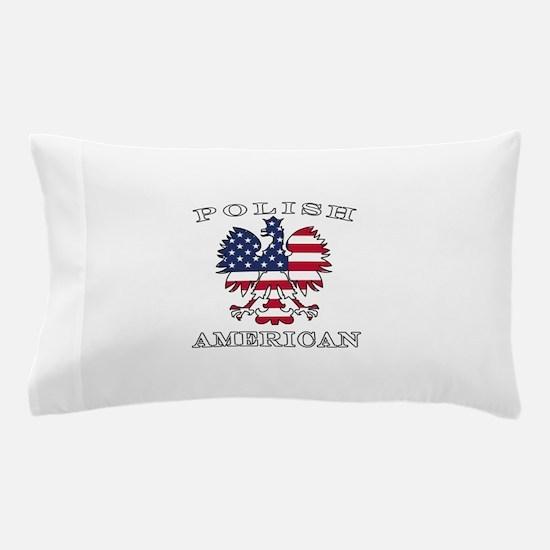 Polish American Flag Eagle Pillow Case