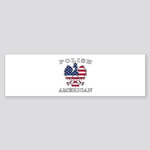Polish American Flag Eagle Sticker (Bumper)