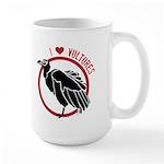 Love Vultures Large Mug