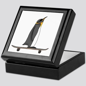 Cool Penguin Keepsake Box